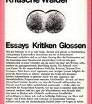 Kritische Wälder - Essays