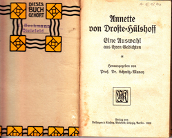 Annette von Droste-Hülshoff - Eine Auswahl aus ihren Gedichten