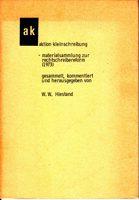 aktion kleinschreibung - materialsammlung zur rechtschreibreform (1973)