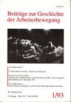 Beiträge zur Geschichte der Arbeiterbewegung 1/ 93