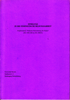 """Einblicke in die feministische Bildungsarbeit - Projektstudium """"Politische Weiterbildung für Frauen"""" (WS 1989/ 1990 bis WS 1990/ 91)"""