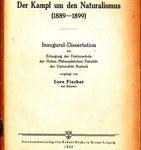 Der Kampf um den Naturalismus (1889-1899)