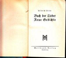 Buch der Lieder - Neue Gedichte
