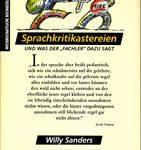 """Sprachkritikastereien und was der """"Fachler"""" dazu sagt"""