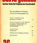 Das Argument Nr.36 - Berliner Hefte für Probleme der Gesellschaft