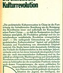 Die chinesische Kulturrevolution - Zur Entwicklung der Widersprüche in der chinesischen Gesellschaft