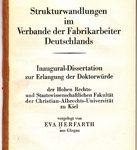 Strukturwandlungen im Verbande der Farbrikarbeiter Deutschlands
